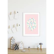 Komar Wandbild Shelly Patterns Rose 30 x 40 cm