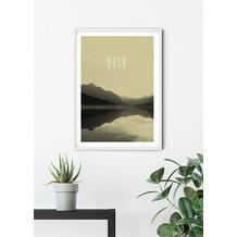 Komar Wandbild Word Lake Hush Sand 30 x 40 cm