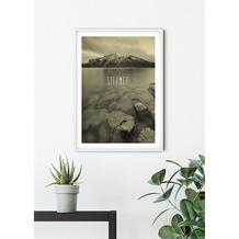 Komar Wandbild Word Lake Silence Sand 30 x 40 cm