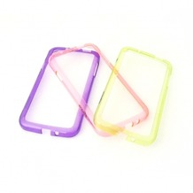 Konkis 3in1 TPU Bumper für Samsung Galaxy S4, lila, hell grün, pink