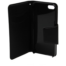 Konkis Belat Purse - Book Tasche/Hülle/Case - Apple iPhone 5/5S/SE - Schwarz