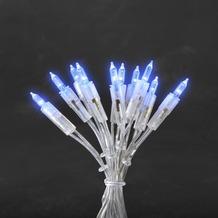 KONSTSMIDE LED Minilichterkette, 35 blaue Dioden, 230V, Innen, transparentes Kabel