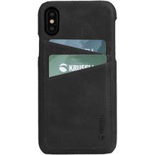 Krusell Sunne 2 Card Cover, Apple iPhone XS, schwarz