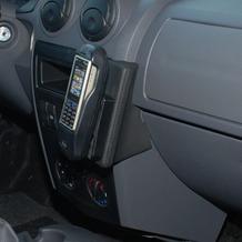 Kuda Lederkonsole für Dacia Logan 06/ MCV 06/ Logan Pickup 09 Echtleder schwarz