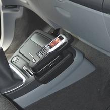 Kuda Lederkonsole für Renault Espace ab 04/06 Mobilia / Kunstleder schwarz