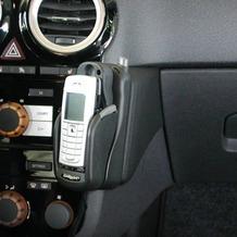 Kuda Lederkonsole für Opel Corsa D ab 09/06 Mobilia / Kunstleder schwarz