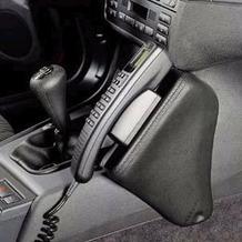 Kuda Lederkonsole BMW 3er / E46 ab 98 + Cabrio /Touring ab 06/2000 /Compact ab 6/01, Echtleder schwarz