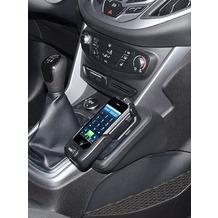 Kuda Lederkonsole für Ford B-Max 03/2012-& Transit Courier 14- Echtleder schwarz