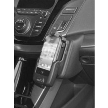 Kuda Lederkonsole für Hyundai i40 ab 10/2011 Echtleder schwarz