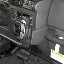 Kuda Lederkonsole für Jeep Wrangler (neue Form) Mobilia / Kunstleder schwarz