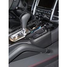 Kuda Lederkonsole für Porsche Cayenne ab 05/2010 Mobilia / Kunstleder schwarz