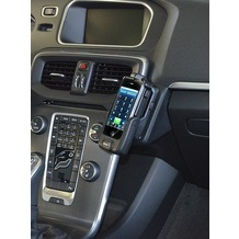 Kuda Lederkonsole für Volvo V40 ab 10/2012 & Volvo Cross Count Echtleder schwarz