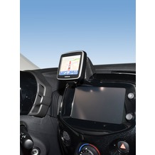 Kuda Navigationskonsole für Citroen C1/ Peu 108/ Toyota Aygo ab 2014 Navi Echtleder schwarz