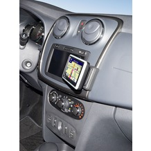 Kuda Navigationskonsole für Navi Dacia Sandeo 03/2012 Kunstleder schwarz