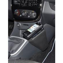 Kuda Navigationskonsole für Renault Clio ab 2013 Kunstleder schwarz