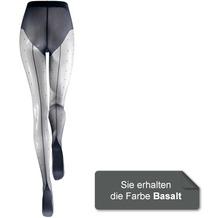 Kunert Damen Feinstrumpfhose Raffinesse Dots Basalt 36/38