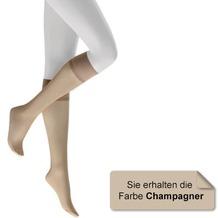 Kunert Fein Kniestrumpf Satin Look 20 Champagner 35/38