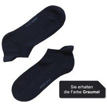 Hudson Grobstrick Füßling 2er Pack Only Plush Grau-mel. 35/38