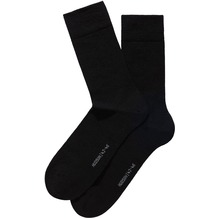 Hudson Herren Grobstrick Socken 2er Pack Only Black 39/42