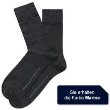 Hudson Herren Grobstrick Socken Relax Wool Mix Marine 39/42