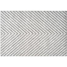 Kayoom Teppich Dominica - Delices Silber / Weiß 120 x 170 cm