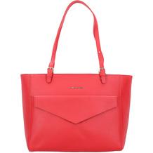 Lancaster Saffiano Signature Shopper Tasche Leder 33 cm rouge