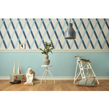 Lars Contzen Vliestapete Artist Edition No. 1 Tapete Cornish Castle blau grau 10,05 m x 0,53 m