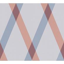 Lars Contzen Vliestapete Artist Edition No. 1 Tapete Cornish Castle blau grau rot 10,05 m x 0,53 m