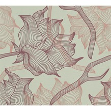 Lars Contzen Vliestapete Artist Edition No. 1 Tapete Dried Flowers grau lila 10,05 m x 0,53 m