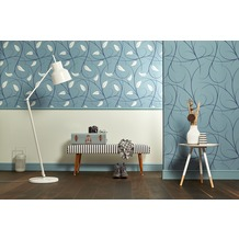 Lars Contzen Vliestapete Artist Edition No. 1 Tapete Elegance in Greenhouse blau 10,05 m x 0,53 m