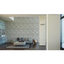 Lars Contzen Vliestapete Artist Edition No. 1 Tapete Fleur Côtiere grau weiß 10,05 m x 0,53 m