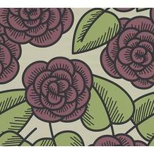 Lars Contzen Vliestapete Artist Edition No. 1 Tapete Fleur Côtiere grün rot schwarz 10,05 m x 0,53 m