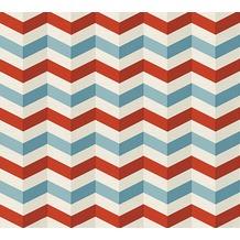 Lars Contzen Vliestapete Artist Edition No. 1 Tapete Mélodie à l'Accordeon blau grau rot 10,05 m x 0,53 m