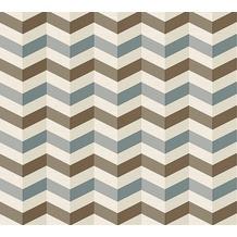 Lars Contzen Vliestapete Artist Edition No. 1 Tapete Mélodie à l'Accordeon braun grau weiß 10,05 m x 0,53 m