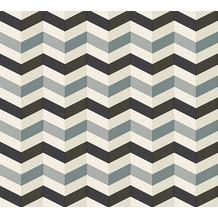 Lars Contzen Vliestapete Artist Edition No. 1 Tapete Mélodie à l'Accordeon grau schwarz weiß 10,05 m x 0,53 m