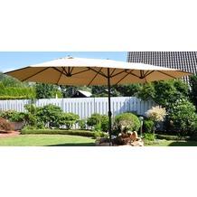 Leco Oval-Schirm 2,70 x 4,60 m natur