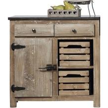 Lee & Lewis Barista Küchenelement aus Pinienholz mit 2 Schubladen und 1 Tür