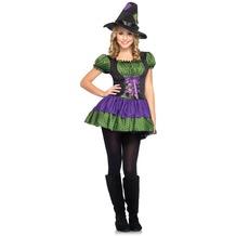 Leg Avenue 2 tlg Junior Hocus Pocus Kostüm Set mit Kleid und Passendem Hexen Hut  lila M/L (13-16 J.)