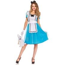 Leg Avenue 3tlg klassisches Alice Kostüm Set blau 38