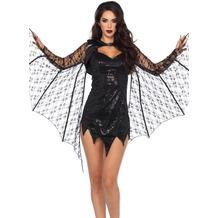 Leg Avenue Spitzen-Bolero mit Fledermausflügeln  schwarz one size