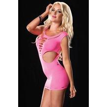 Leg Avenue Nahtloses Mini-Kleid mit Zerrissenen Akzenten neon pink one size
