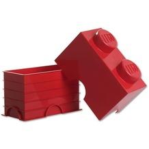 LEGO® Aufbewahrungsbox 2er-Stein, rot
