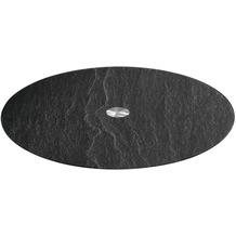 Leonardo Platte TURN 32,5 cm schwarz Schieferoptic