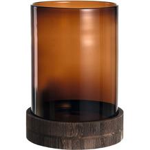 Leonardo Windlicht Terra braun + Holzsockel 38 cm braun