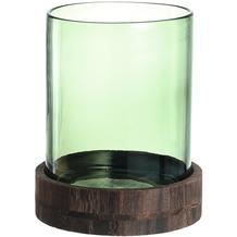 Leonardo Windlicht Terra grün + Holzsockel 25 cm grün