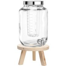 Leonardo Getränkespender 7l Succo + Getränkespendersockel Holz