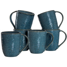 Leonardo Matera Keramiktasse 6er-Set 430 ml blau