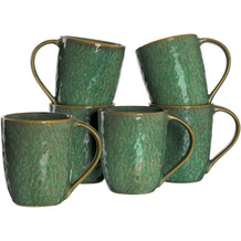 Leonardo Matera Keramiktasse 6er-Set 430 ml grün