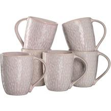 Leonardo Matera Keramiktasse 6er-Set 430 ml rosé