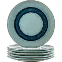 Leonardo Matera Keramikteller 6er-Set 22,5 cm blau